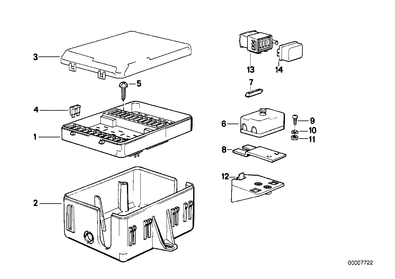 Online Bmw Parts Catalog 1990 325i Fuse Box
