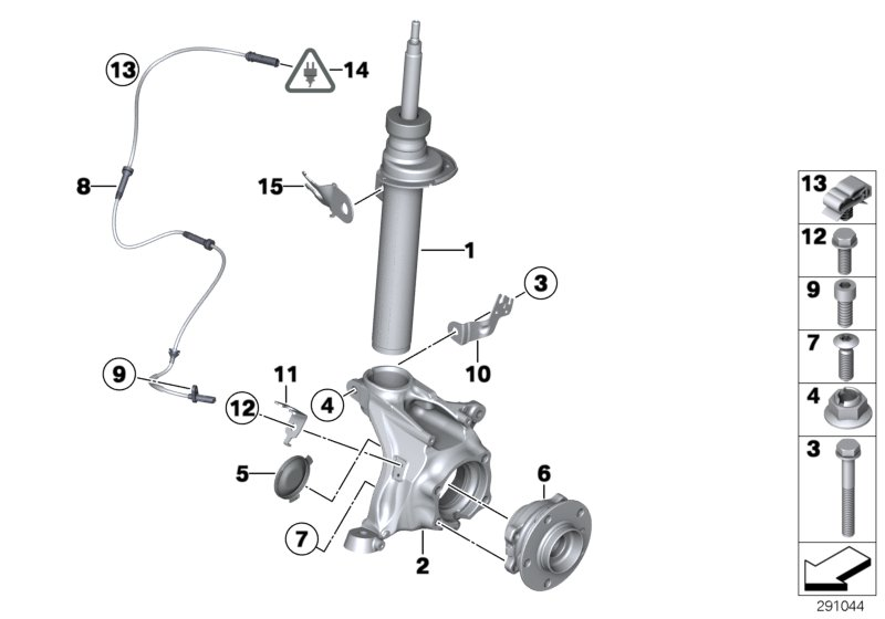 Realoem Online BMW Parts Catalog. Front Spring Strutcarrierwheel Bearing. BMW. BMW X3 Suspension Diagram At Scoala.co
