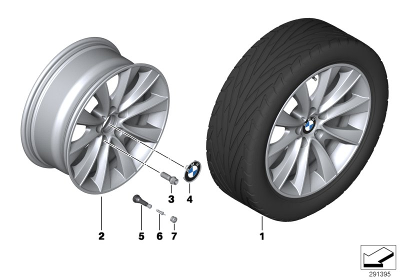 BMW LA wheel V-Spoke 425 - 18''