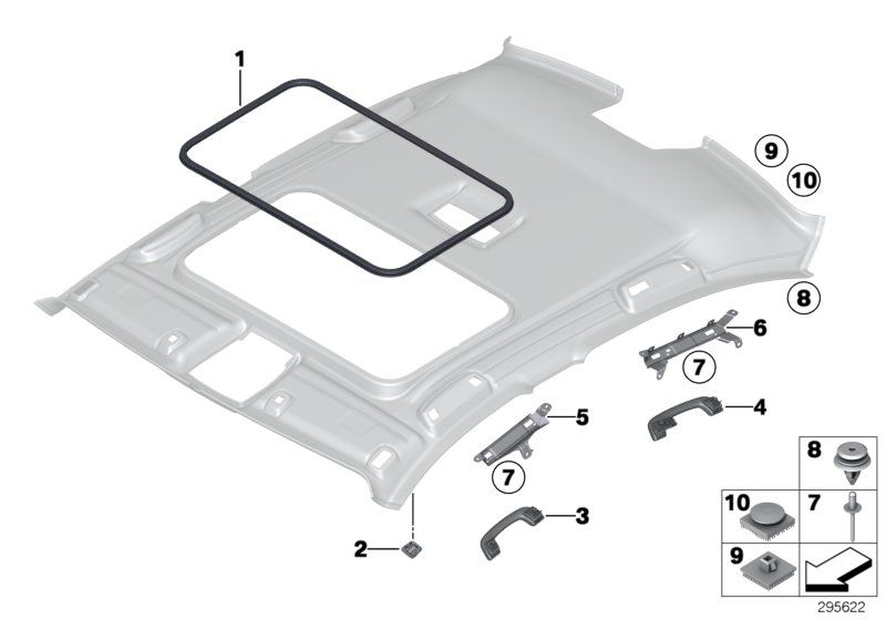 Mounting parts, roof antenna