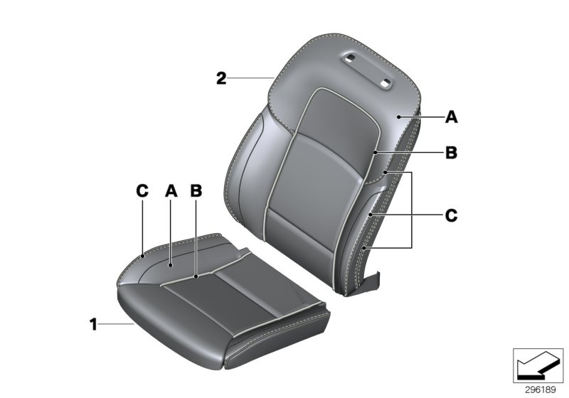 Individual cover, leather comfort seat