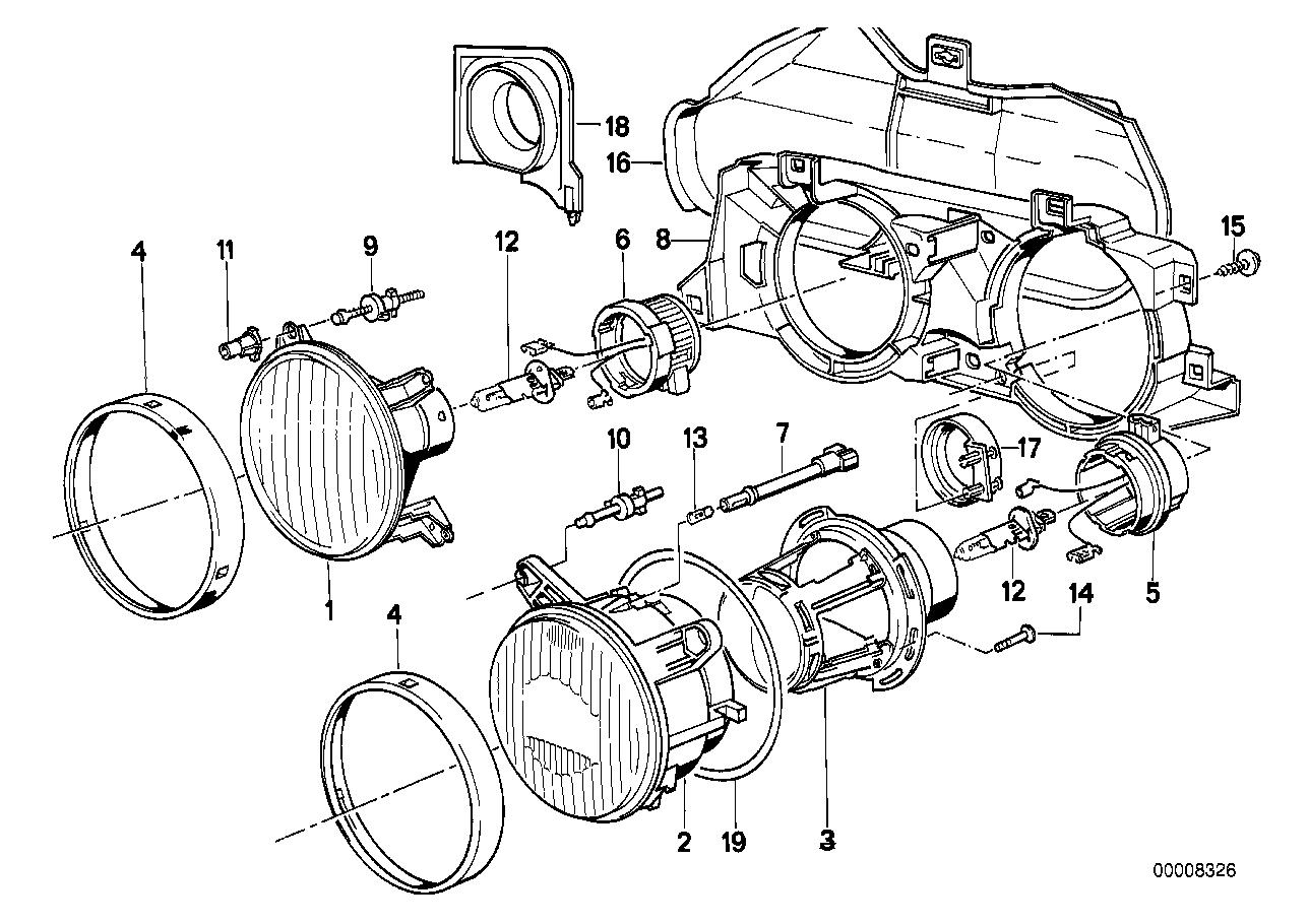 Online Bmw Parts Catalog E24 Engine Diagram Single F Ellipsoidal Headlight