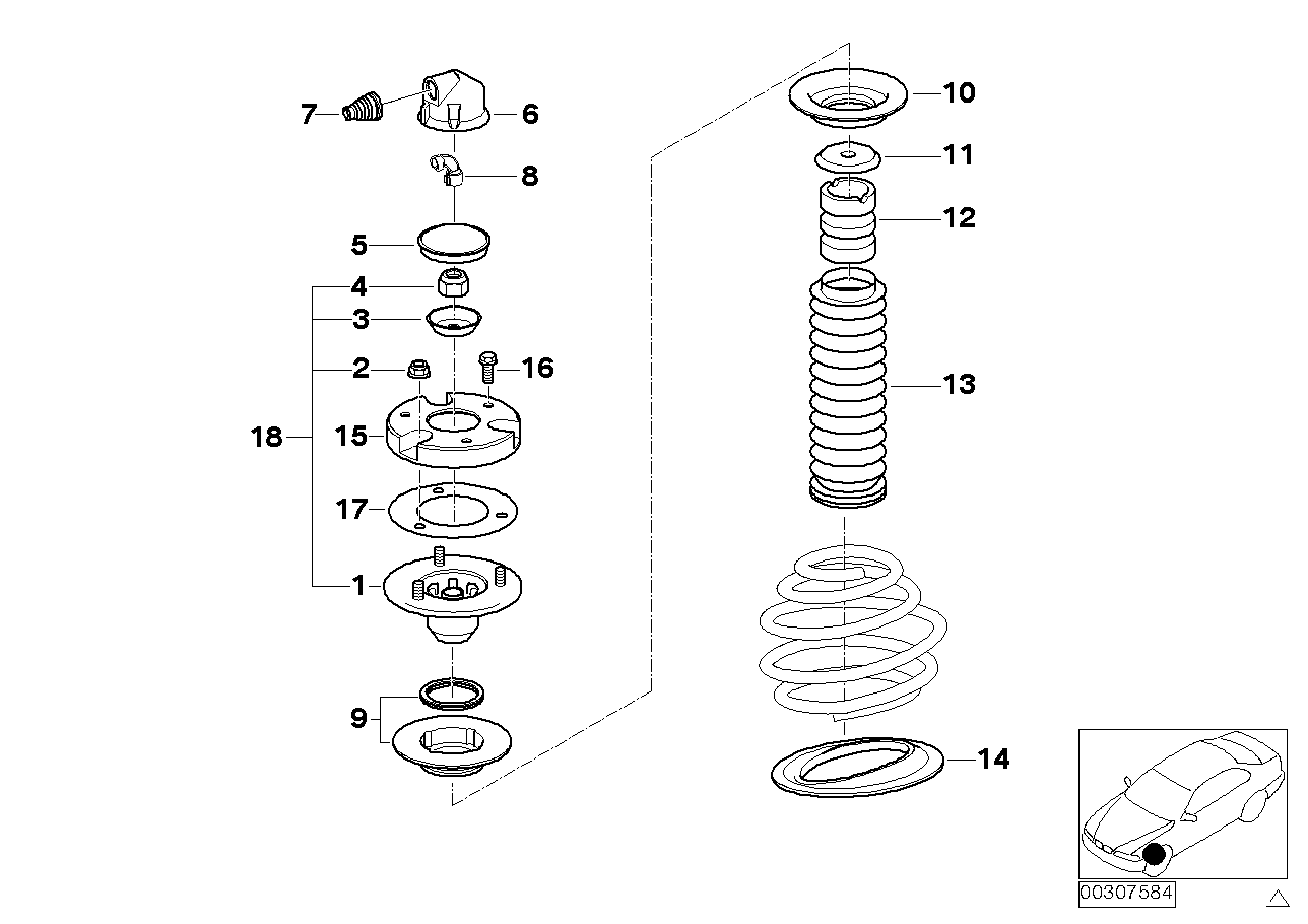 GUIDE SUPPORT/SPRING PAD/ATTACHING PARTS
