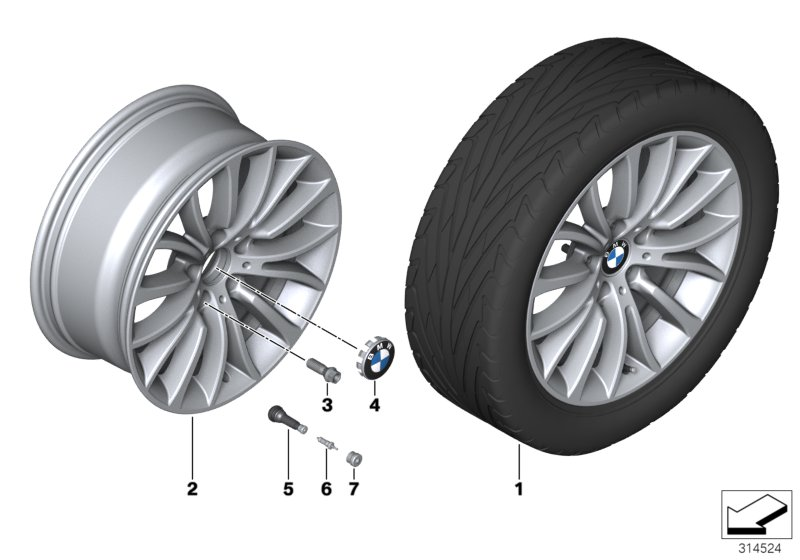 BMW LA wheel Multi-Spoke 454 - 18''