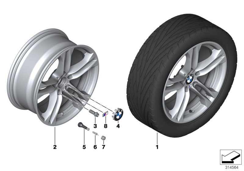 BMW LA wheel M Double Spoke 613 - 18''