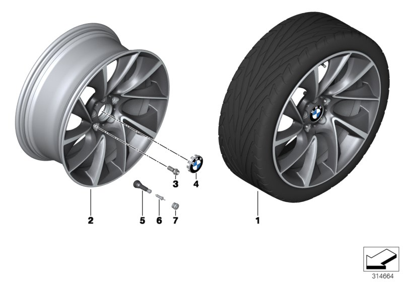 BMW LA wheel Turbine Styling 457 - 20''