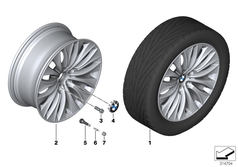 BMW LA wheel Multi-Spoke 459 - 20''