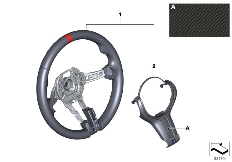M Performance steering wl II w/o display