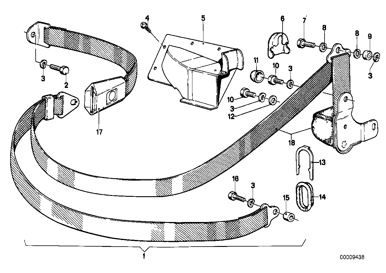 Online Bmw Parts Catalog 318 Engine Fuel Line Diagram Safety Belt Rear