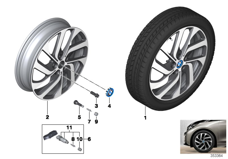 BMW i LA wheel Turbine Styling 428 - 19