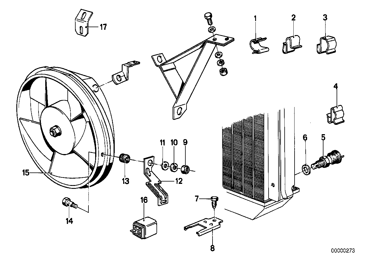 Electric additional fan