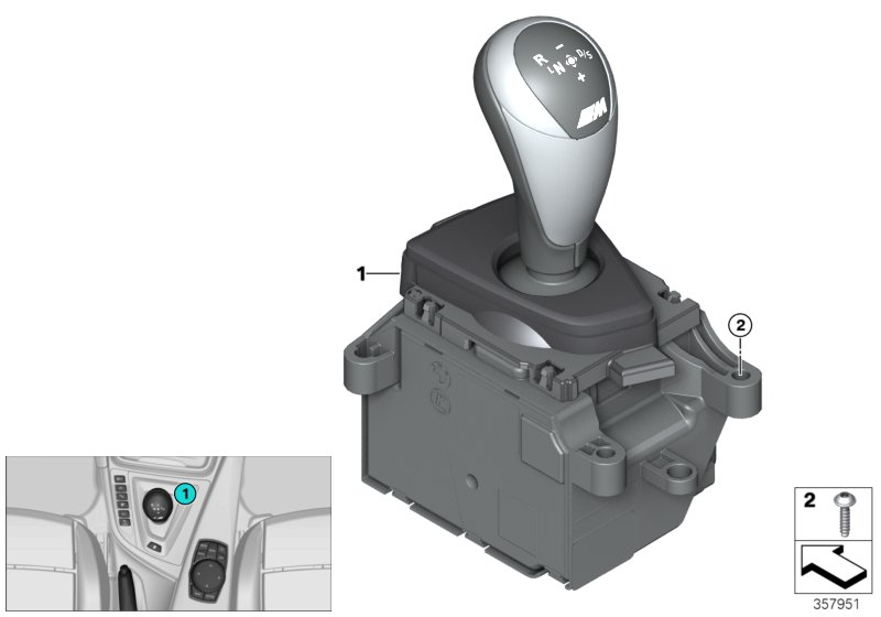 Gear selector switch twin-clutch gearbox