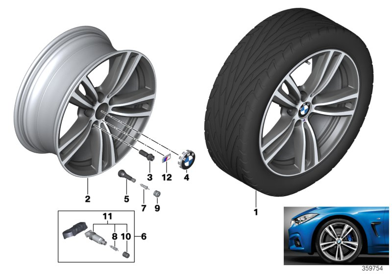 BMW LA wheel M Double Spoke 442 - 19''