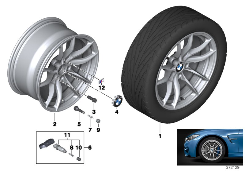 BMW LA wheel V-Spoke 513M - 18