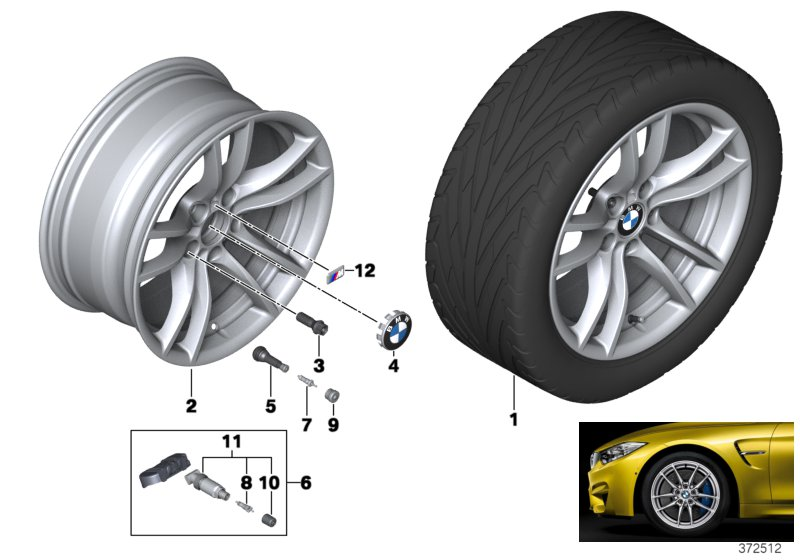 BMW LA wheel V-Spoke 640M - 18
