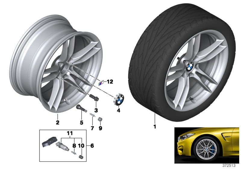 BMW LA wheel V-Spoke 641M - 19