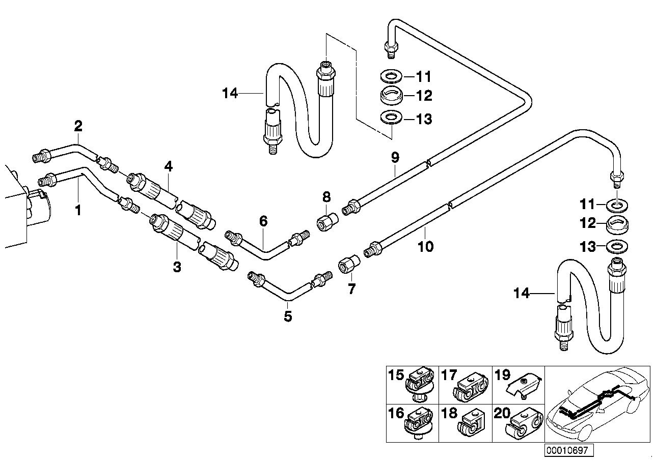 Online Bmw Parts Catalog Rear Brake Diagram Pipe Asc Dsc
