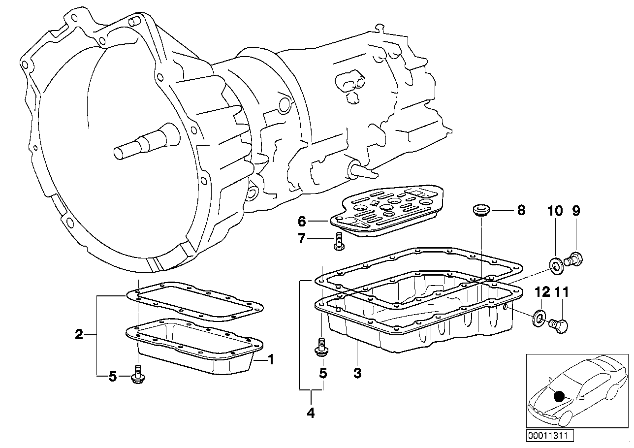 A4S 270R/310R oil pan/oil strainer