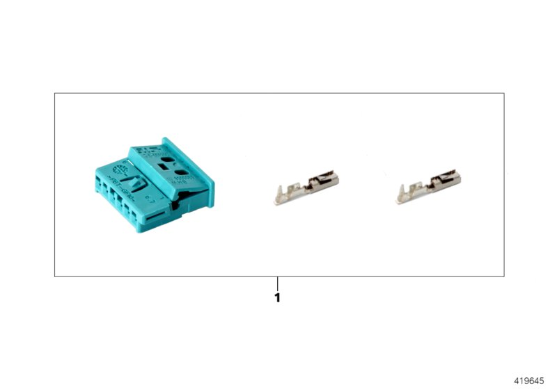 Rep. kit for socket housing, 6-pin