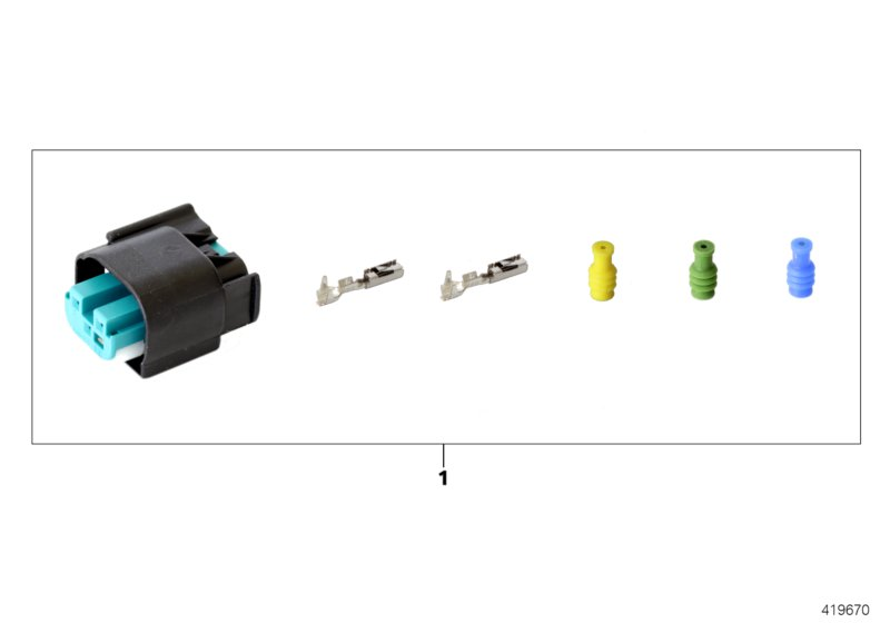 Repair kit for socket housing, 3-pin