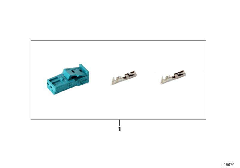 Repair kit for socket housing, 2-pin