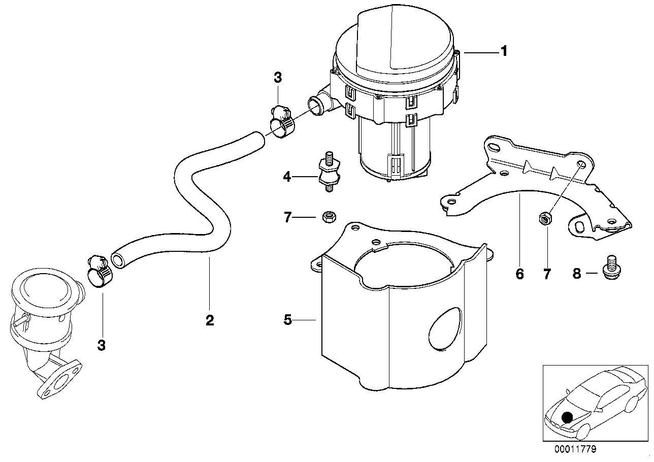 Emission control-air pump