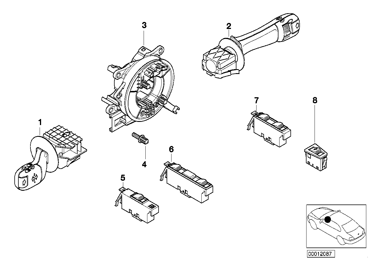 steering-column stalk/ window lifter