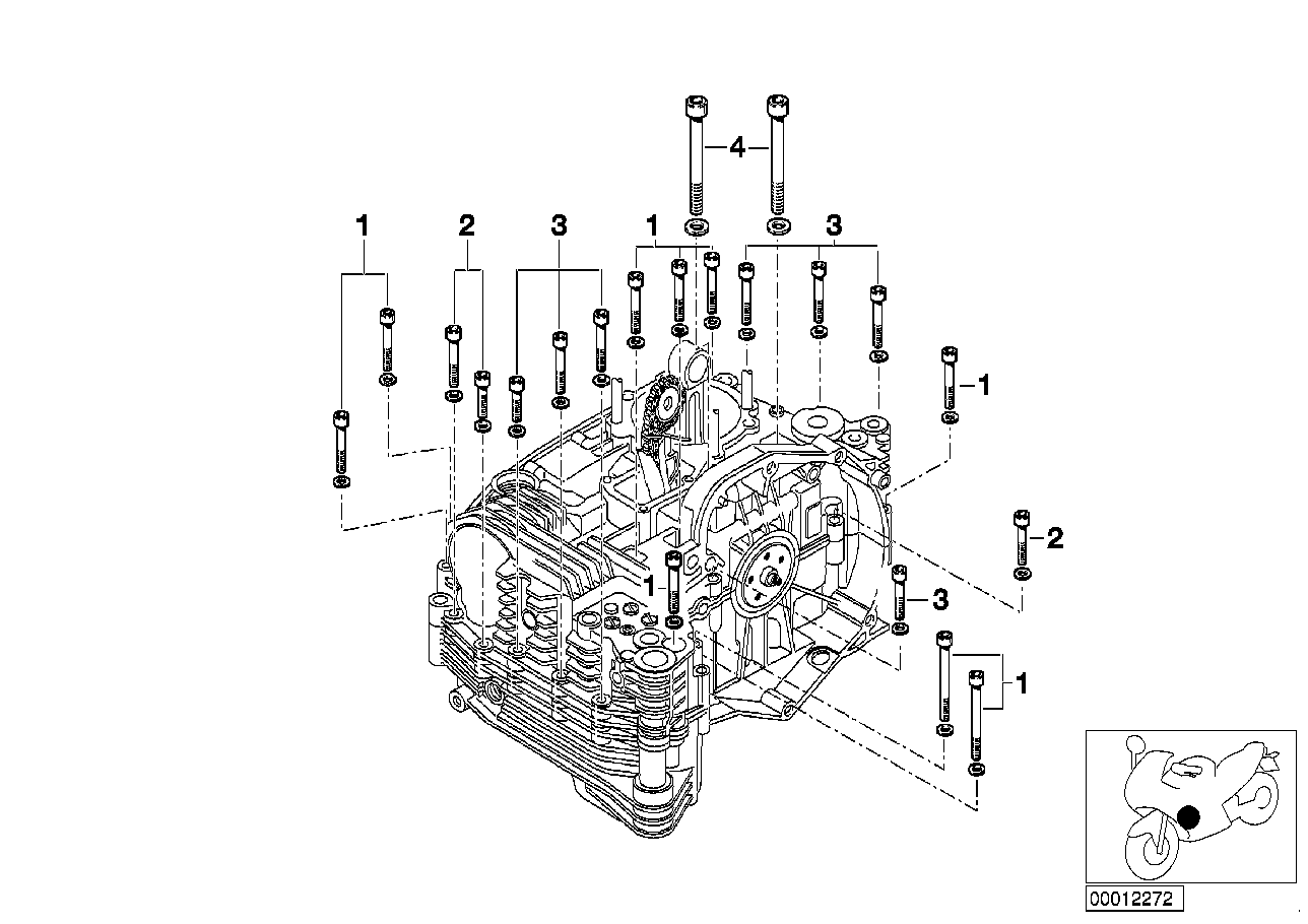 mounting point crankcase left