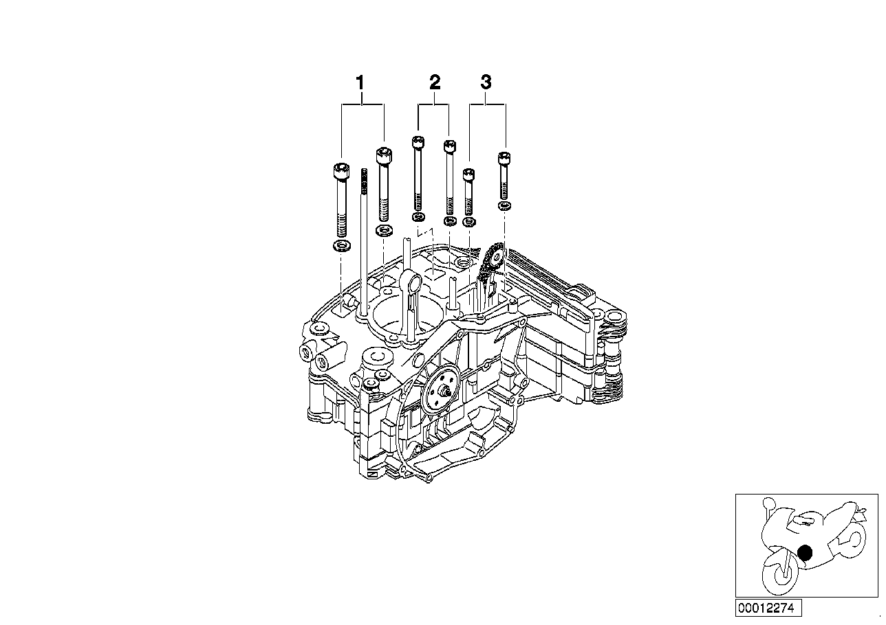 mounting point crankcase right