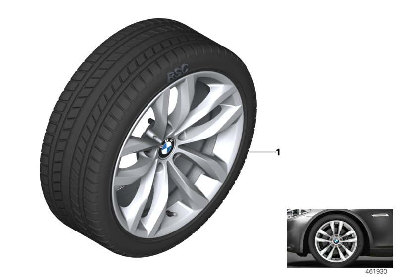 Winter wheel w.tire double sp.609 -18