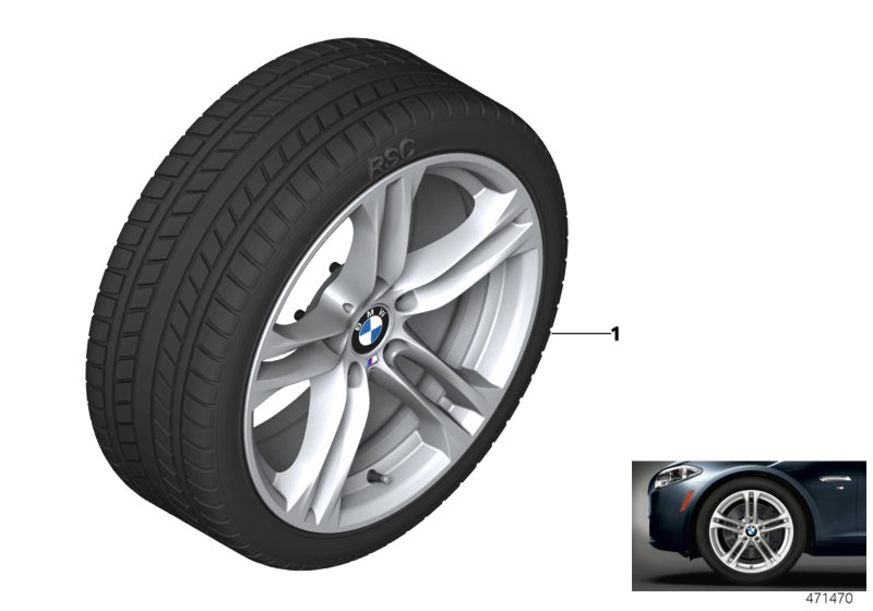Winter wheel w.tire M doub.sp.613M-18