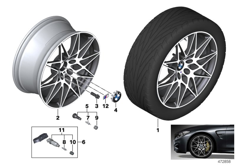 BMW LA wheel M star spoke 666M - 20
