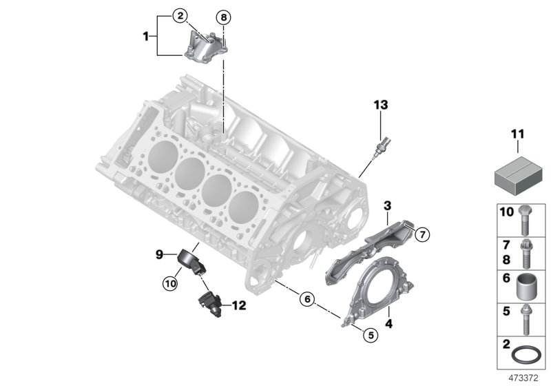 Engine Block Mounting Parts