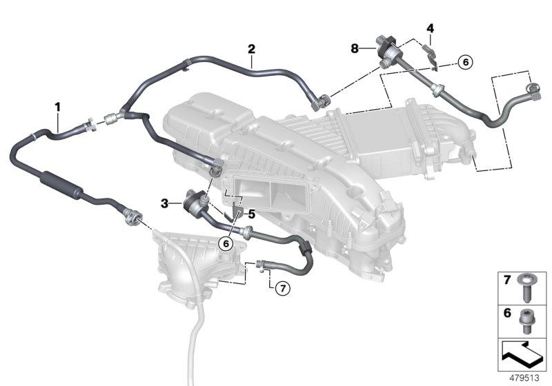 realoem online bmw parts catalog G12 Materials Manuals fuel tank breather valve