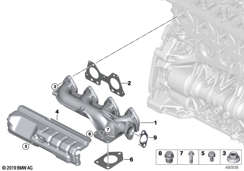 Exhaust manifold-AGR