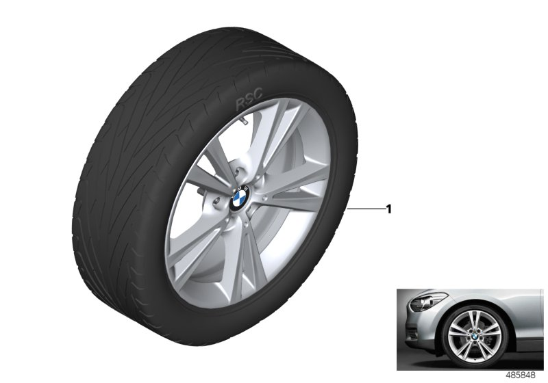 BMW LA wheel double spoke 385 - 18