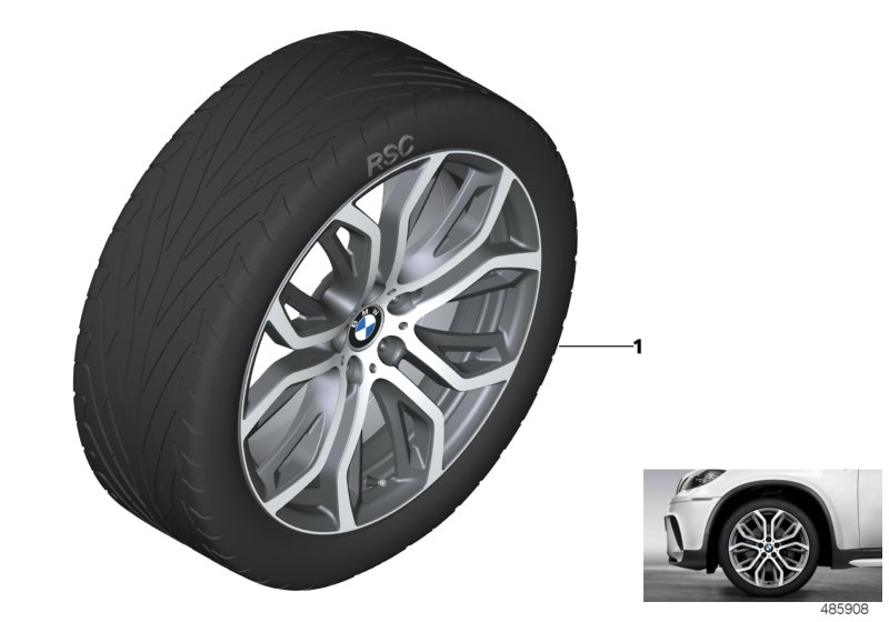 BMW Performance LA wheel Y-spoke 375