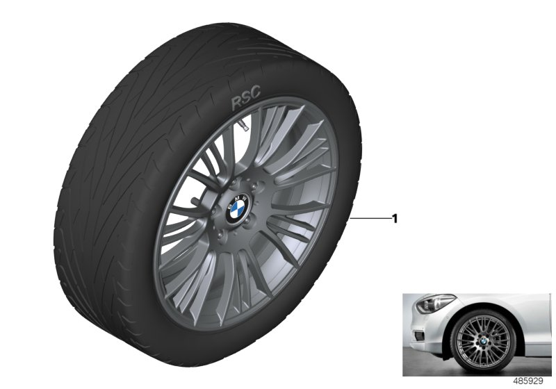 BMW LA wheel Radial Spoke 388 - 18''