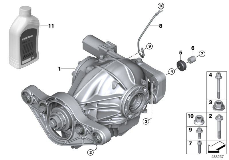 Rear differential / mounted parts