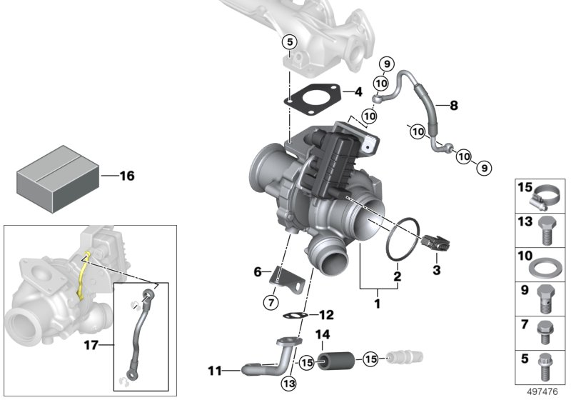 Turbo charger with lubrication