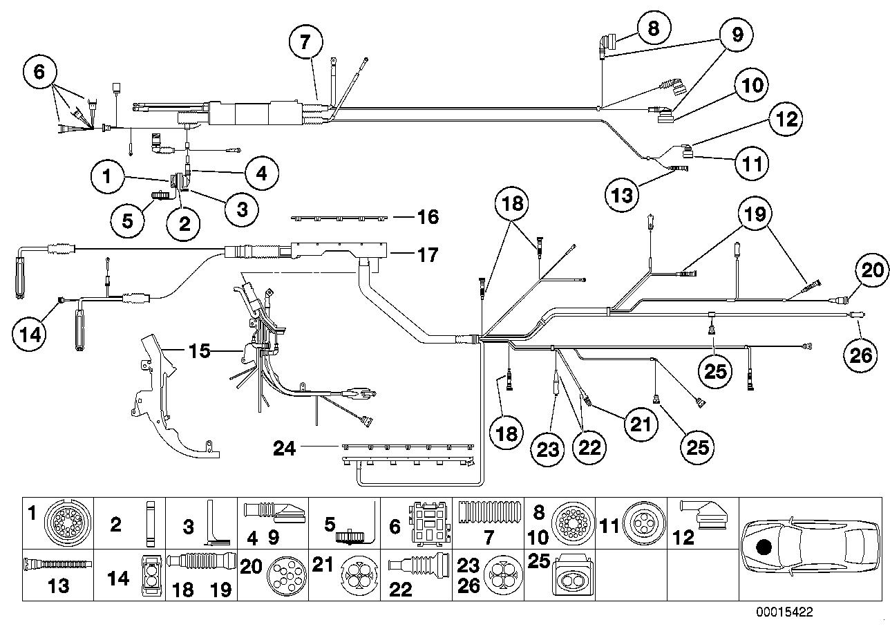 Plug terminal engine wiring harness