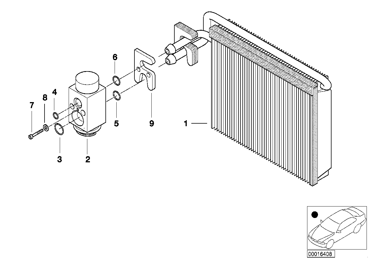 Evaporator / Expansion valve