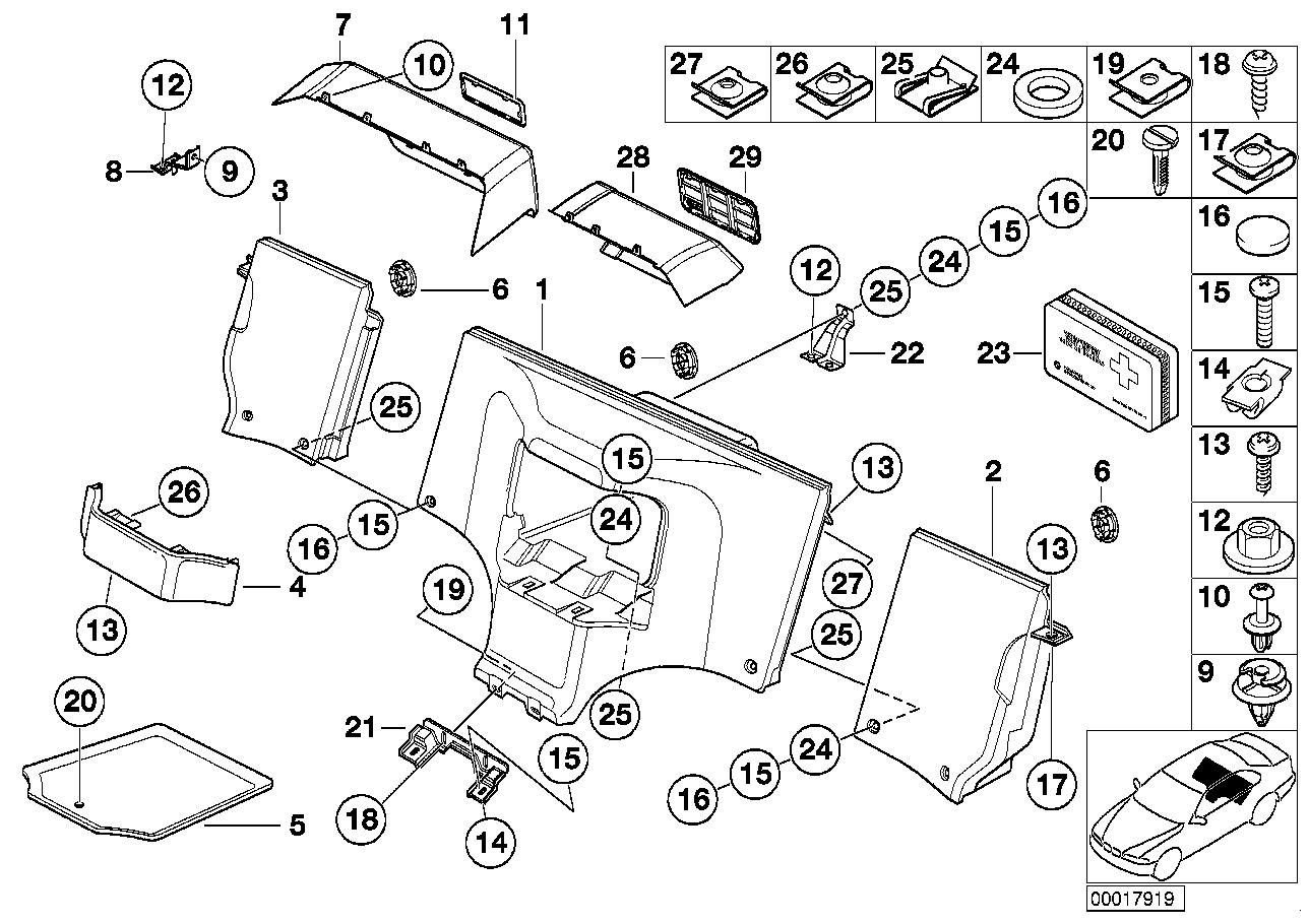 Online Bmw Parts Catalog Z3 2 8 Engine Diagram Stowage Box
