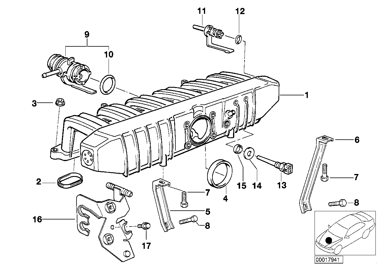 Online Bmw Parts Catalog E36 Engine Diagram Intake Manifold System