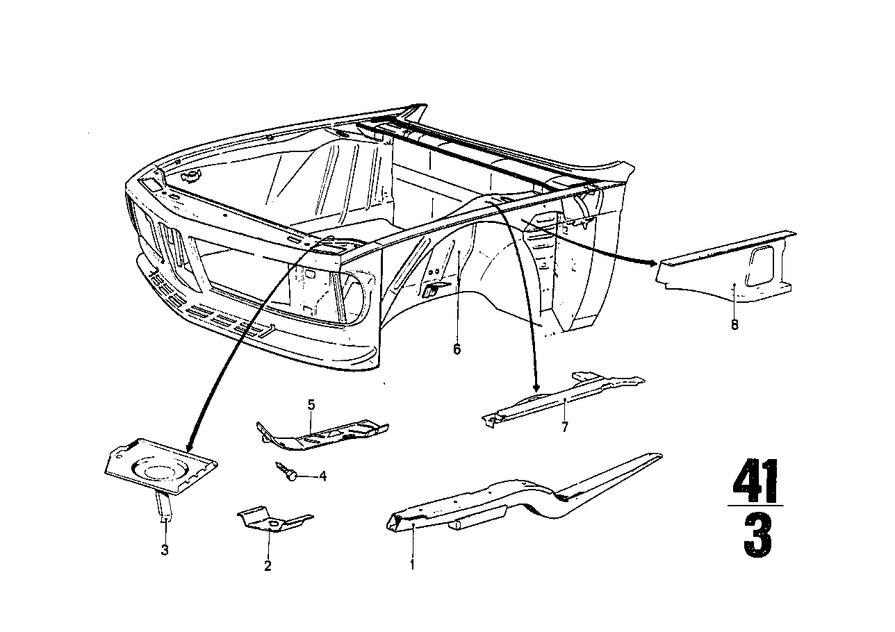 Front body-engine support