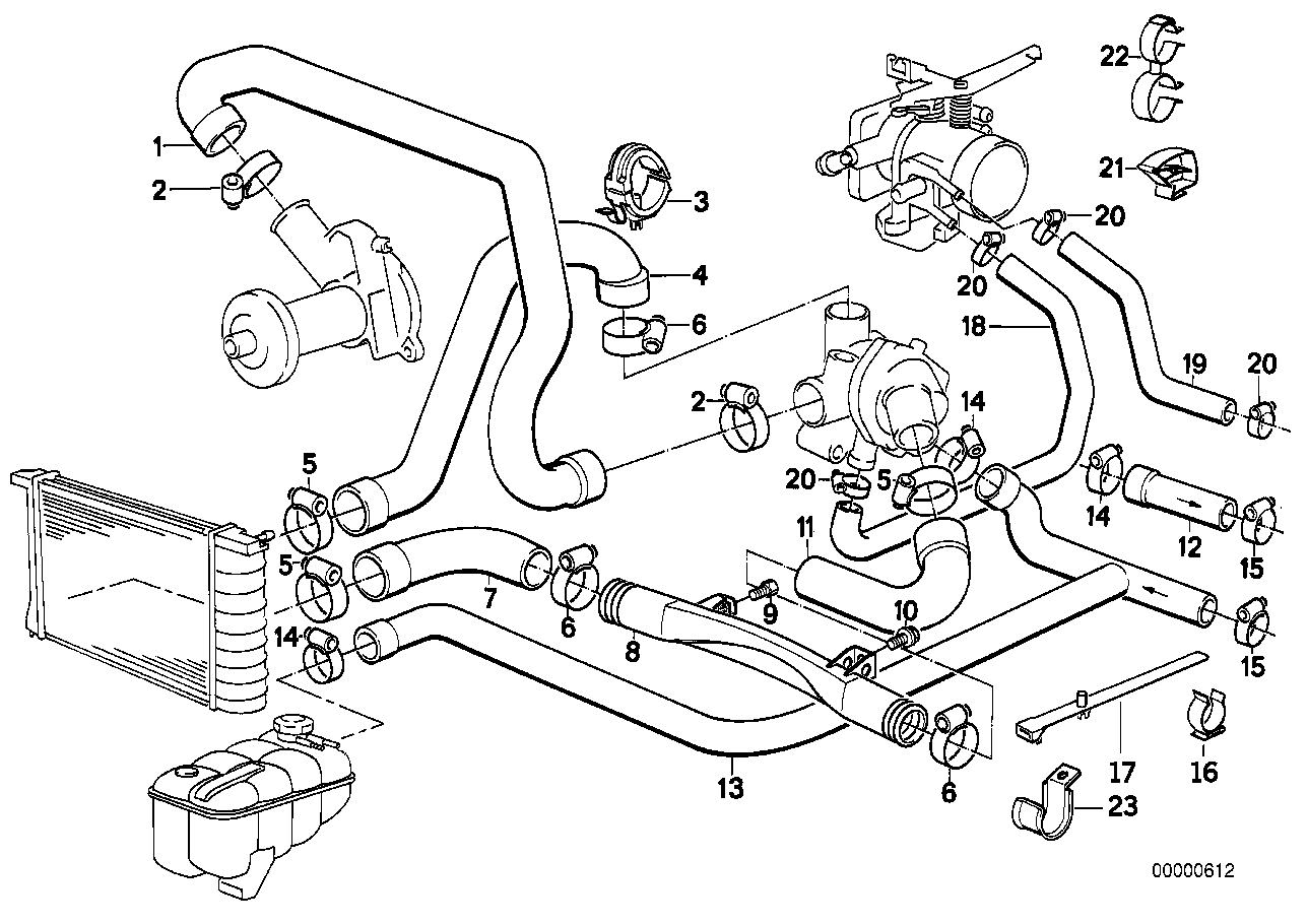 Bmw E21 Engine Diagram Wire Data Schema E30 M10 Wiring Strange Parts Mismatch Problem M20 Heater Hose Vs Back Wagon