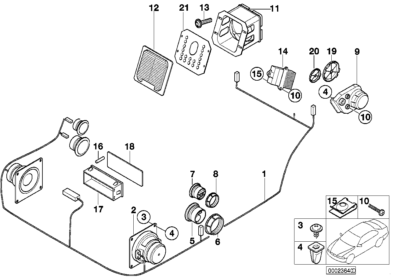 porsche boxster interior parts diagram