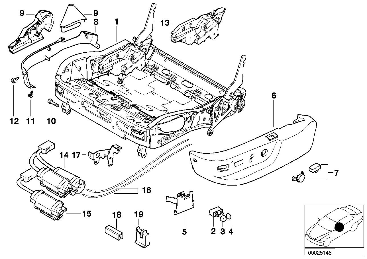 realoem online bmw parts catalog Volvo 960 Wiring Diagram bmw sports seat frame electrical