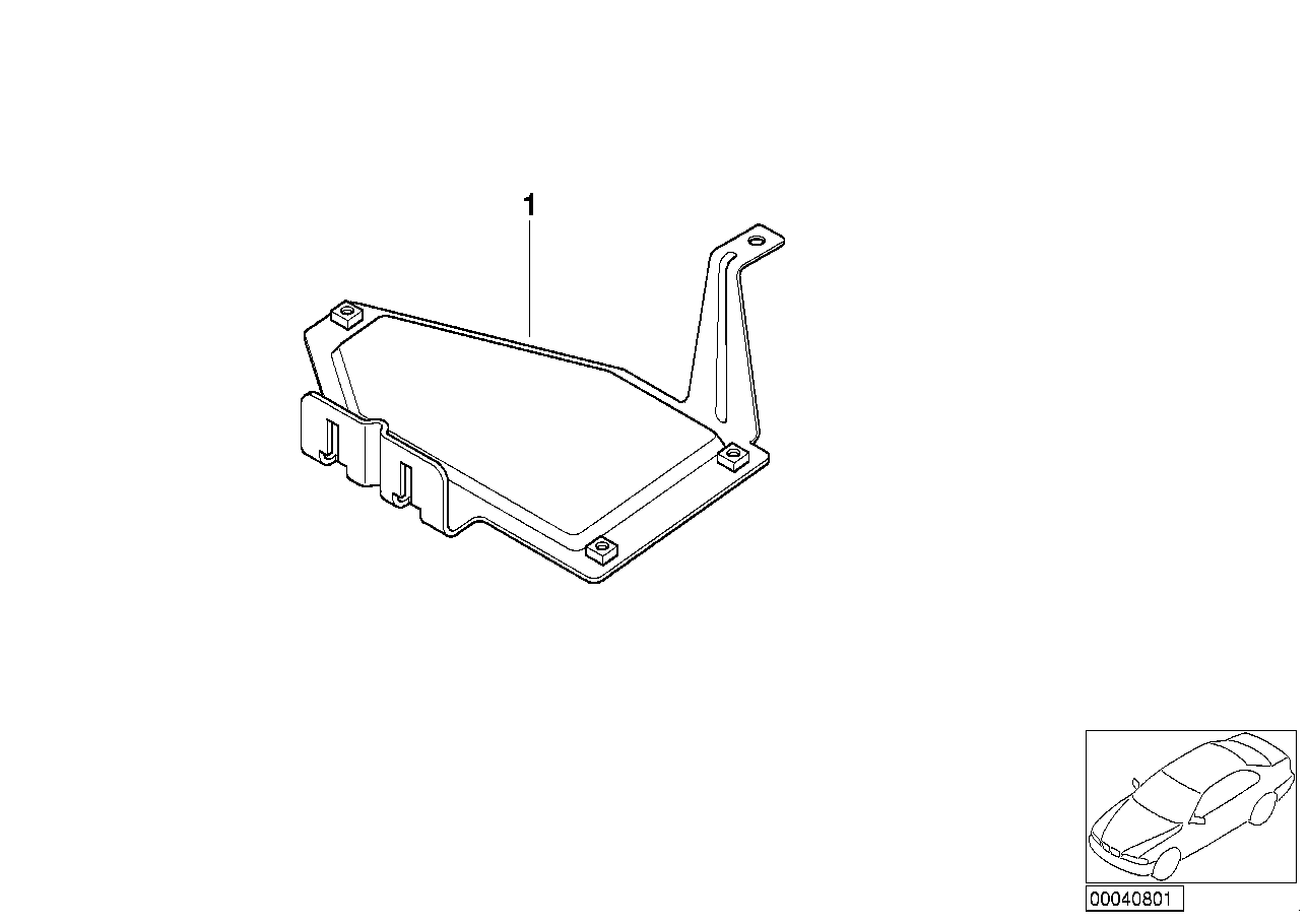 Cable covering/control unit support