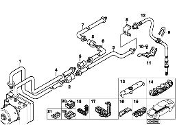 BRAKE PIPE, REAR, 4-WHEEL